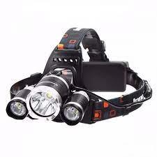 Đèn pin T6 đội đầu có 3 bóng dùng pin sạc - Đèn pin Thương hiệu OEM