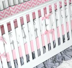 pink and gray baby bedding pink and gray anchor crib bedding nautical girl baby bedding pink