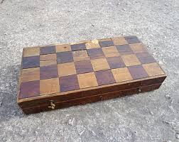 Old Fashioned Wooden Games Antique chess Etsy 52