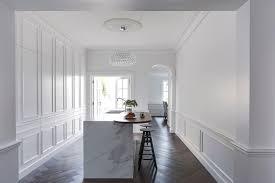 contemporary kitchen behind