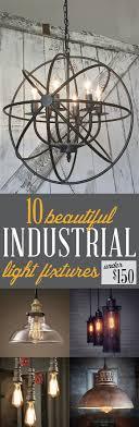 Industrial Light Fixtures Under $150 | Metal can be cozy with these  industrial light fixtures.