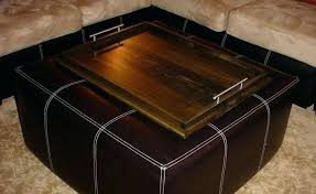 oversized ottoman tray home creative enormous decor tips stunning leather with wood and intended for large