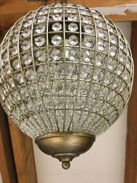 chandeliers round crystal chandelier replica item industrial diam clear glass prism round chandelier vintage re