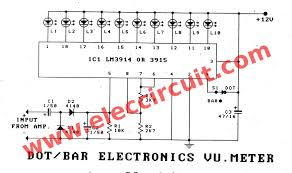 electronic vu meter by lm3914 and lm3915 electronic vu meter by lm3914 lm3915 circuit diagram