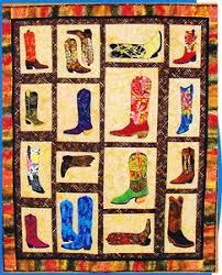149 best Cowboy Quilts images on Pinterest   Cowboy quilt ... & Boots Boots Fun Applique Pieced Cowboy Boots Quilt Pattern Adamdwight.com