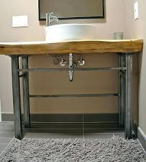 belfast sink metal legs console table combo in white with polished chrome