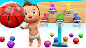 Learn Colors for Children with Little Baby Play BasketBalls 3D Games ...