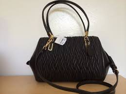 S l1600. S l1600. NWT COACH 25982 MADISON SMALL MADELINE EAST WEST SATCHEL  GATHERED TWIST BLACK  NWT COACH 25982 MADISON ...