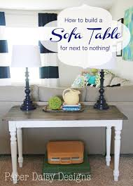 Sofa Table Diy Build A Rustic Sofa Table Make New Wood Look Old
