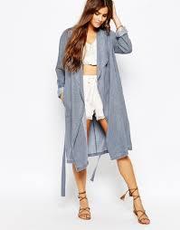 Light Blue Duster Coat Lovin Undercover Indigo Chambray Duster Coat