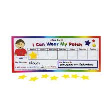 Eye Patch Chart Amblyopia Lazy Eye Reward Incentive Patching