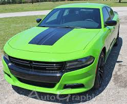 2015 2019 Dodge Charger Hood Stripe Vinyl Graphic Decals Hood 15 Hemi Daytona R T Srt 392 Hellcat Blackout Kit