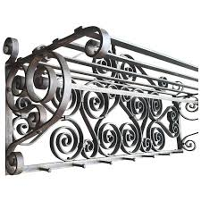 art nouveau quality scrolled wrought iron art wall coat rack