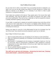 Steps To Writing A Cover Letter For Resume