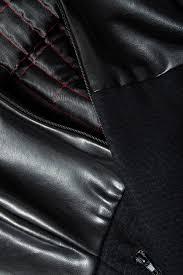 faux leather trimmed wool coat loredana novotni image 3