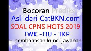 Klik pilihan jawaban, maka kunci otomatis Soal Cpns 2019 Pdf Dan Pembahasan Kunci Jawaban Bocoran Prediksi Twk Tiu Tkp Youtube