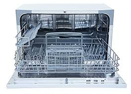 nice dishwasher with a modern look it s reasonably quiet makes a somewhat relaxing water sloshing sound as it washes seems well built and gets dishes