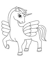 Disegno Di Unicorno Alato Da Colorare Disegni Da Colorare E