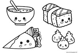 Hot dog coloring pages food, echo's free food coloring pages of hot dogs. Coloring Page Kawaii Chinese Food Coloring Pages Printable Page Coloring Home