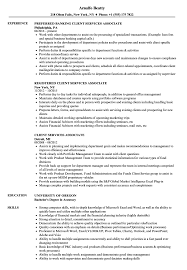 Client Service Associate Resumes Ayha Seoessex Co