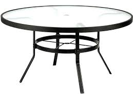 48 inch round patio table cover with umbrella hole obscure glass aluminum round dining table with
