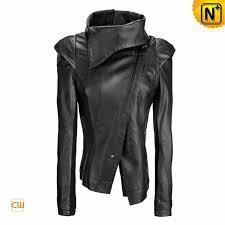 women designer lapels skinny real leather jacket cw670037