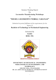 Training Report Cover Page Summer Training Report Front Page Dlw