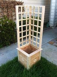 build a garden grow box and trellis