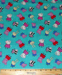 PEPPA PIG FABRIC / 1/2 Yard For Quilting / Suzy Sheep - George Pig ... & PEPPA PIG FABRIC / 1/2 Yard For Quilting / Suzy Sheep - George Pig -  richard Rabbit - Zoe Zebra from whatcamesecond on Etsy Studio Adamdwight.com