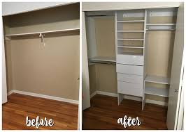 with the installation of my modular closet it went from boring and simple to chic and useful