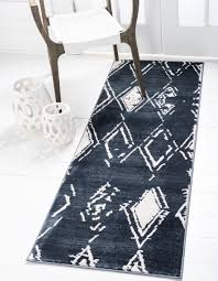 carnegie hill 2 2 x 6 0 navy blue runner rug