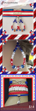 New England Patriots Bracelet Earrings The