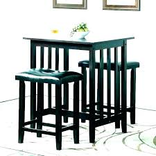 outdoor wood bistro table set black pub and chairs 3 piece small round incredible style