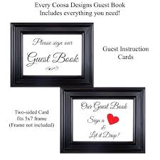 guest book photo frame drop box with opening wedding guestbook birthday anniversary alternative sign diy picture guest book