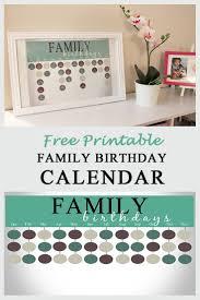 Free Printable Birthday Calendar Templates 29 Free Printable Family ...