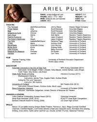 Amazing Resumes Extremely Actors Resume Amazing Resumes Free Example And Writing 44