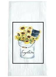 sunflower kitchen towels sunflower bucket dish towels set of 2 sunflower kitchen towels pot holders sunflower kitchen towels