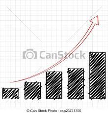 Line Chart Sketch Trend Bar Chart Sketch