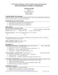 Example Resume For No Experience Essay Value Graduate School