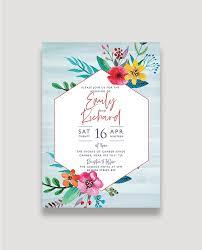 Floral Pop Wedding Invitation
