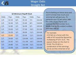 Basic Horse Wagering How To Place A Wager Learn About Odds
