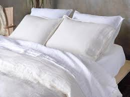 these breathable linen bed sheets with a cult following are 20 off for real simple readers real simple
