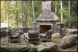 outside stone fireplaces beyond the grill outdoor gas for pre fab outdoor fireplace