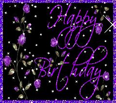 Purple Goat Lady Happy Birthday Tara