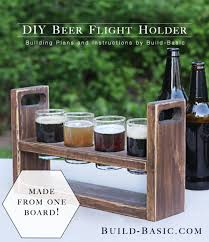 The slat design is a mix of form and function, as it allows the bottles to be seen while reinforcing the strength of the tote. Build A Diy Beer Flight Holder Build Basic