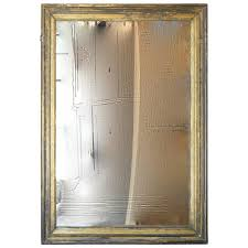 18th century gold and silver leaf mercury glass mirror from spain for