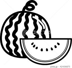 水瓜 スイカ 食べ物 デザートのイラスト素材 Pixta