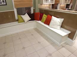 image of kitchen table bench seating with storage ideas