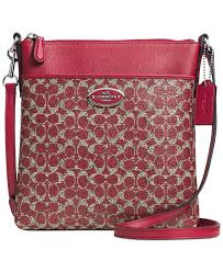 COACH NORTH SOUTH SWINGPACK IN SIGNATURE COATED CANVAS - COACH - Handbags    Accessories - Macy s