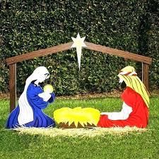 outdoor wooden manger scene plans nativity le large indoor set family l outdoor nativity sets